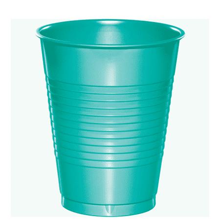 Teal Lagoon Plastic Cups 20 Pack