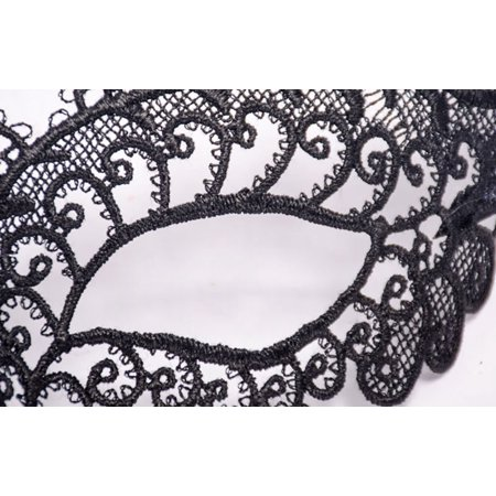Mosunx Masquerade Lace Mask Catwoman Halloween Black Cutout Prom Party Mask Accessories - Masquerade Suits