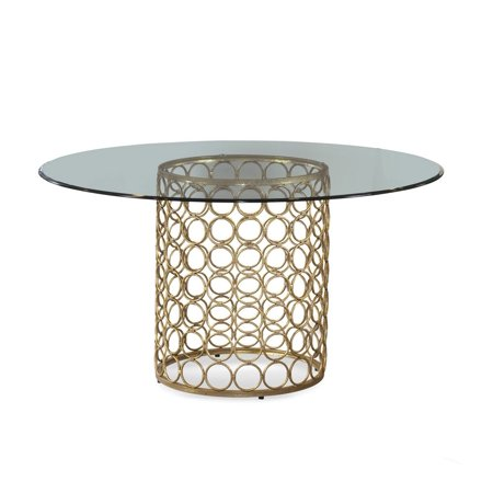 Bassett Carnaby Inch Round Glass Top Dining Table Walmartcom - 54 inch glass top round dining table