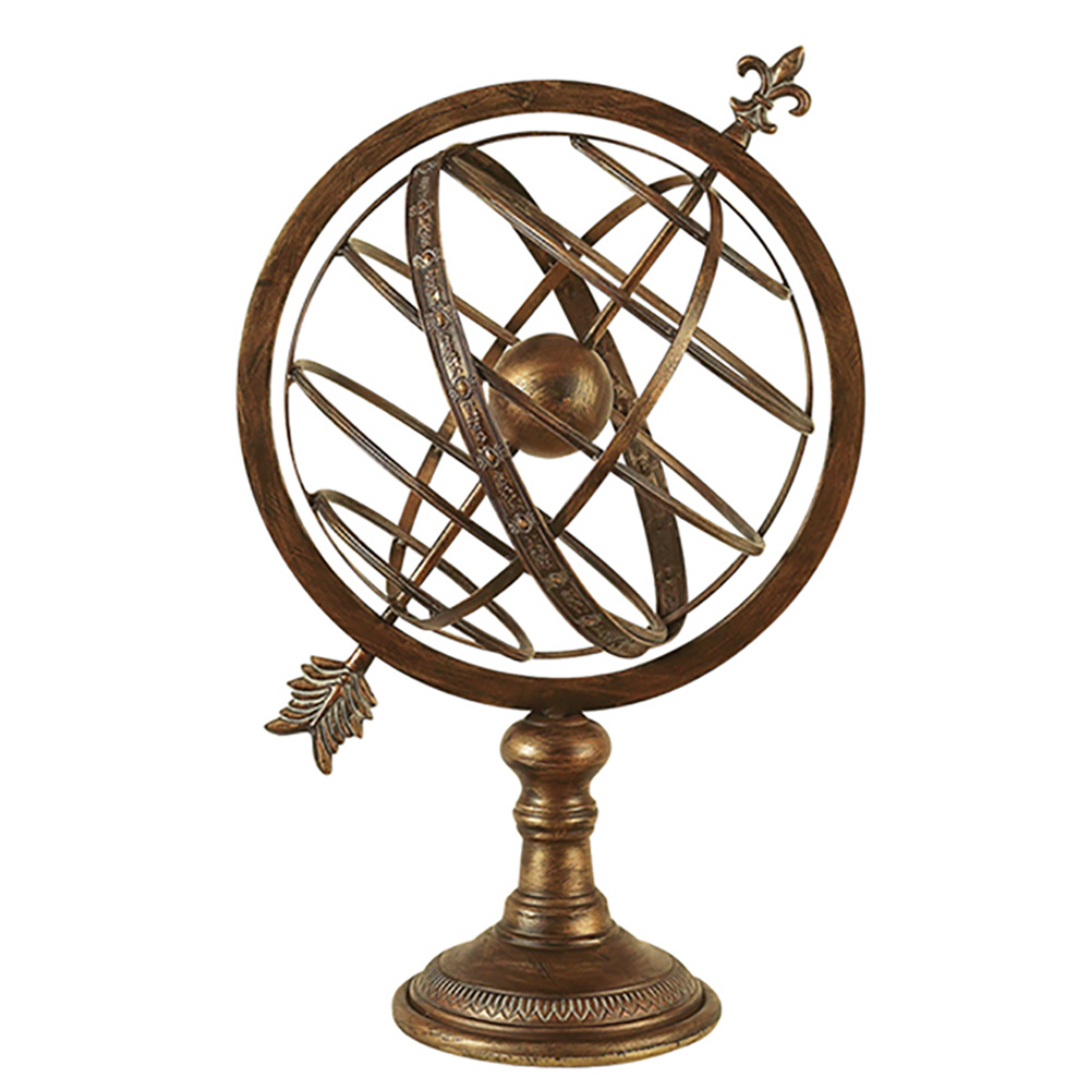 ecWorld Urban Designs Engraved Metal Armillary Nautical Celestial Sphere Globe, 27""