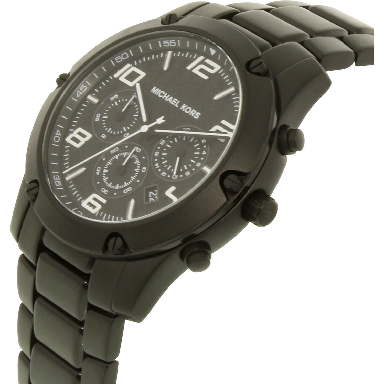 685c401b651b Michael Kors - Men s Caine MK8473 Black Stainless-Steel Quartz Dress Watch  - Walmart.com