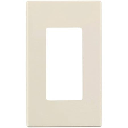 - Leviton 80301-ST 1-Gang Decoa Plus Screwless Wallplate, Light Almond