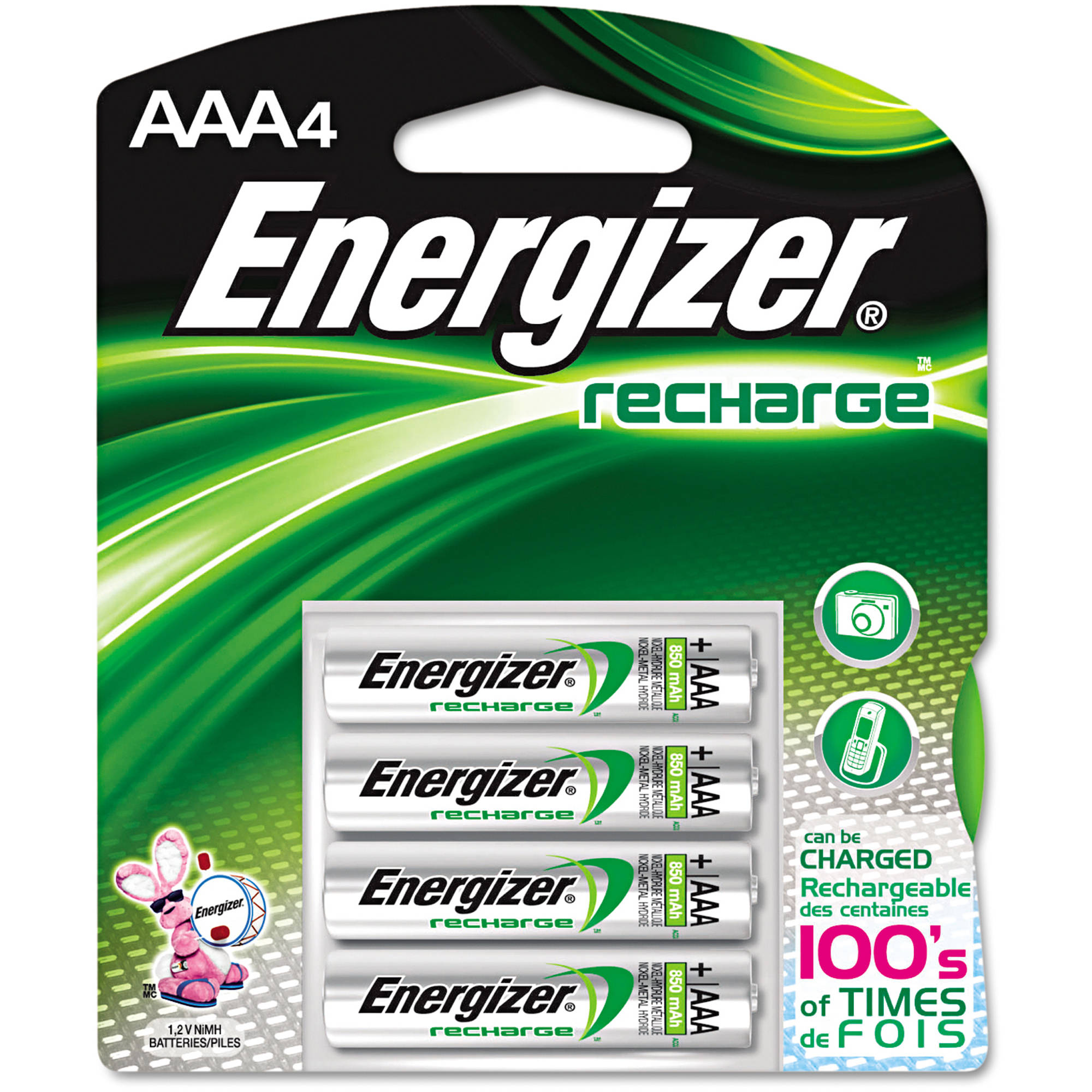 Energizer - Rechargeable AAA Batteries - 4-Pack