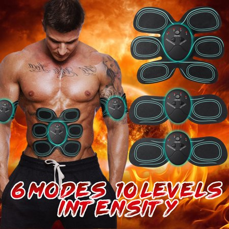 1/6/12 Pcs Body Care Massager Electric Abdominal Arm Muscle Stimulator Slimming Exerciser Health Fitness Trainer for Home Office