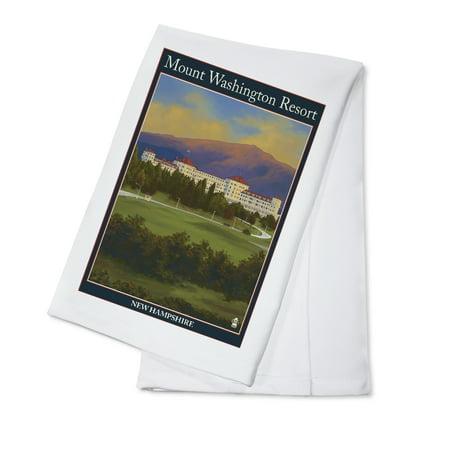 Bretton Woods, New Hampshire - Mount Washington Hotel - Lantern Press Artwork (100% Cotton Kitchen Towel)