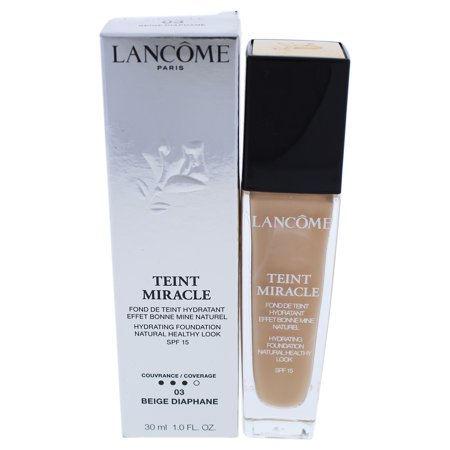 Teint Miracle Hydrating Foundation SPF 15 - 03 Beige Diaphane by Lancome for Women - 1 oz Foundation ()