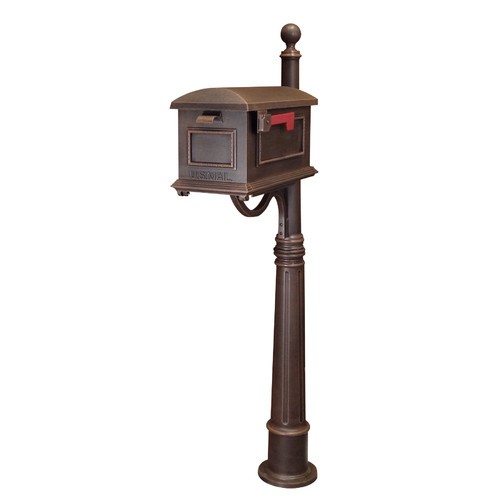 Special Lite Products Traditional Curbside Mailbox with Post Included by Special Lite Products