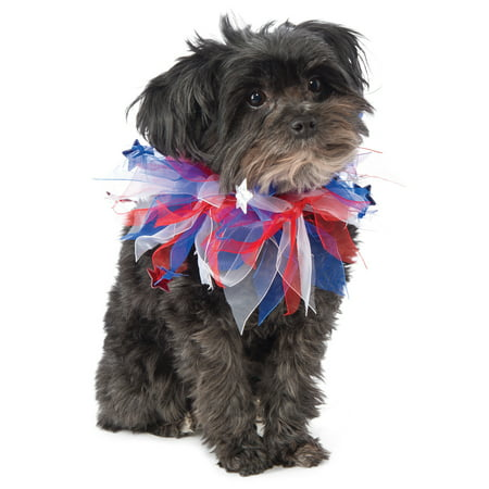 Patriotic 4th Of July Red White Blue Pet Dog Cat Scrunchie - Patriotic Dog