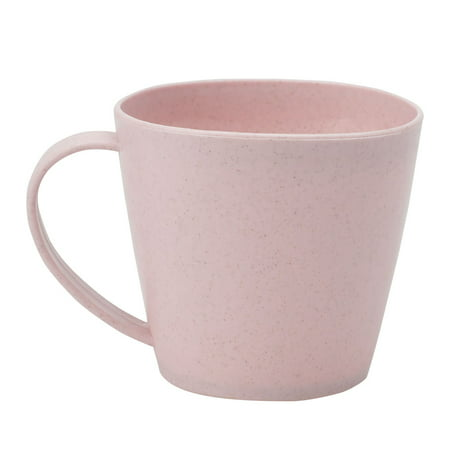 Unique Bargains Household Plastic Water Coffee Tea Juice Drinking Cup Mug Pink 250ml (Plastic Coffee Cups)