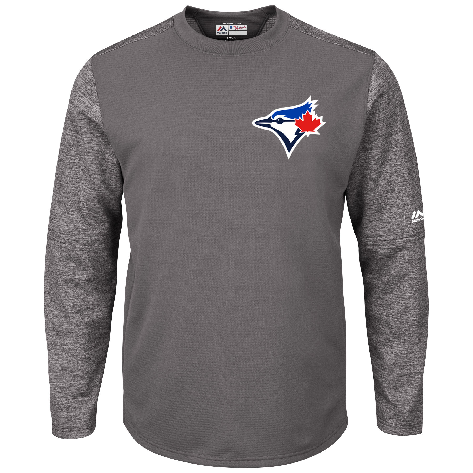 Toronto Blue Jays Majestic Alternate Authentic Tech Fleece Therma Base Pullover Sweatshirt - Graphite