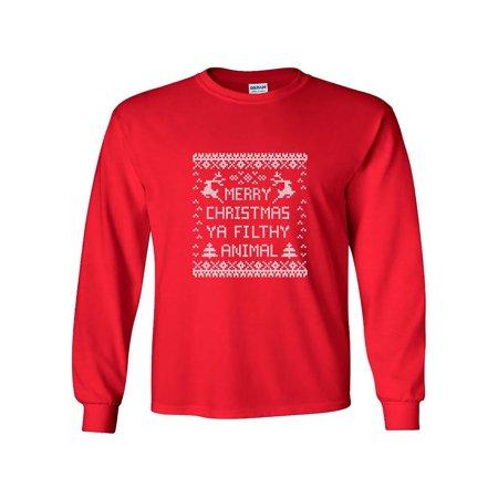 3e6f1eeac81 Merry Christmas Ya Filthy Animal Long Sleeve T-Shirt - Walmart.com