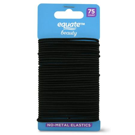 Equate Beauty No-Metal Elastics, 75 Count
