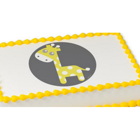 Baby Giraffe Edible Extra Large 8 x 10 Cake Decoration Topper Image
