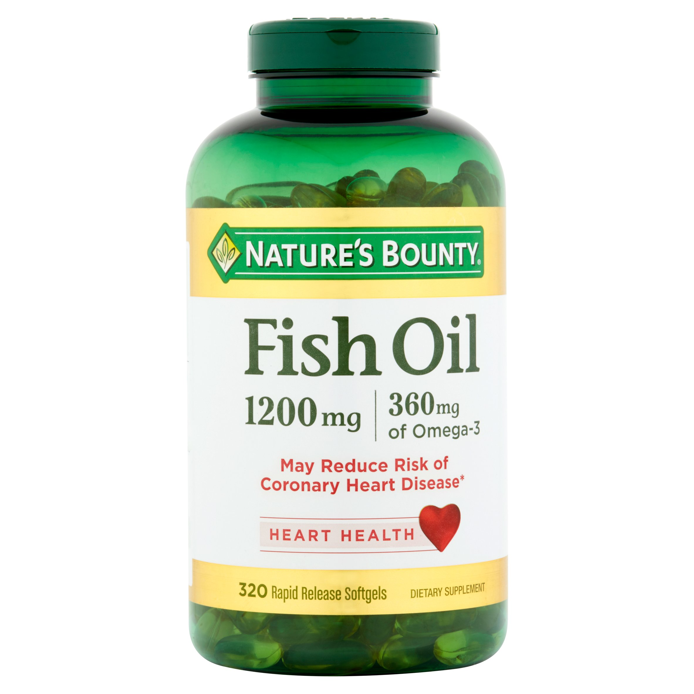 Nature's Bounty Fish Oil Dietary Supplement Softgels, 1200 mg, 320 Ct