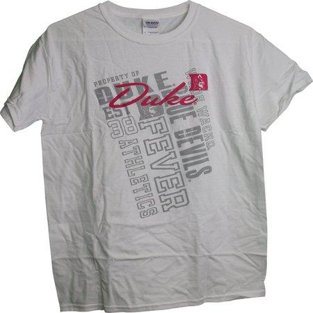 Duke Blue Devils Property Of Duke Pink & Tonal Graphic Ladies Womens T-Shirt (Devil Ladies)