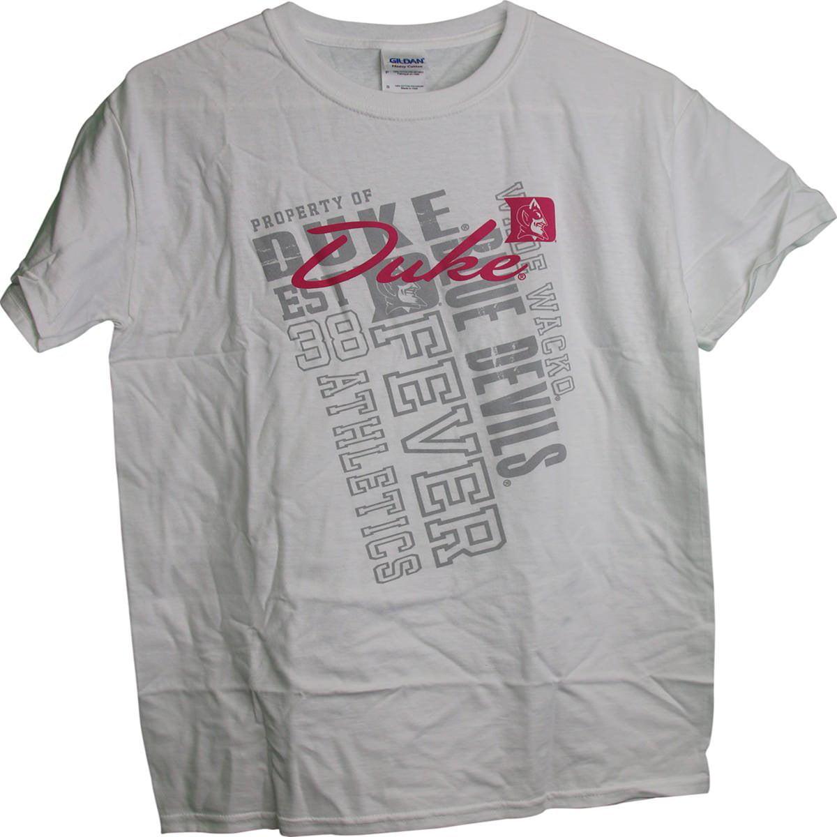 Duke Blue Devils Property Of Duke Pink & Tonal Graphic Ladies Womens T-Shirt