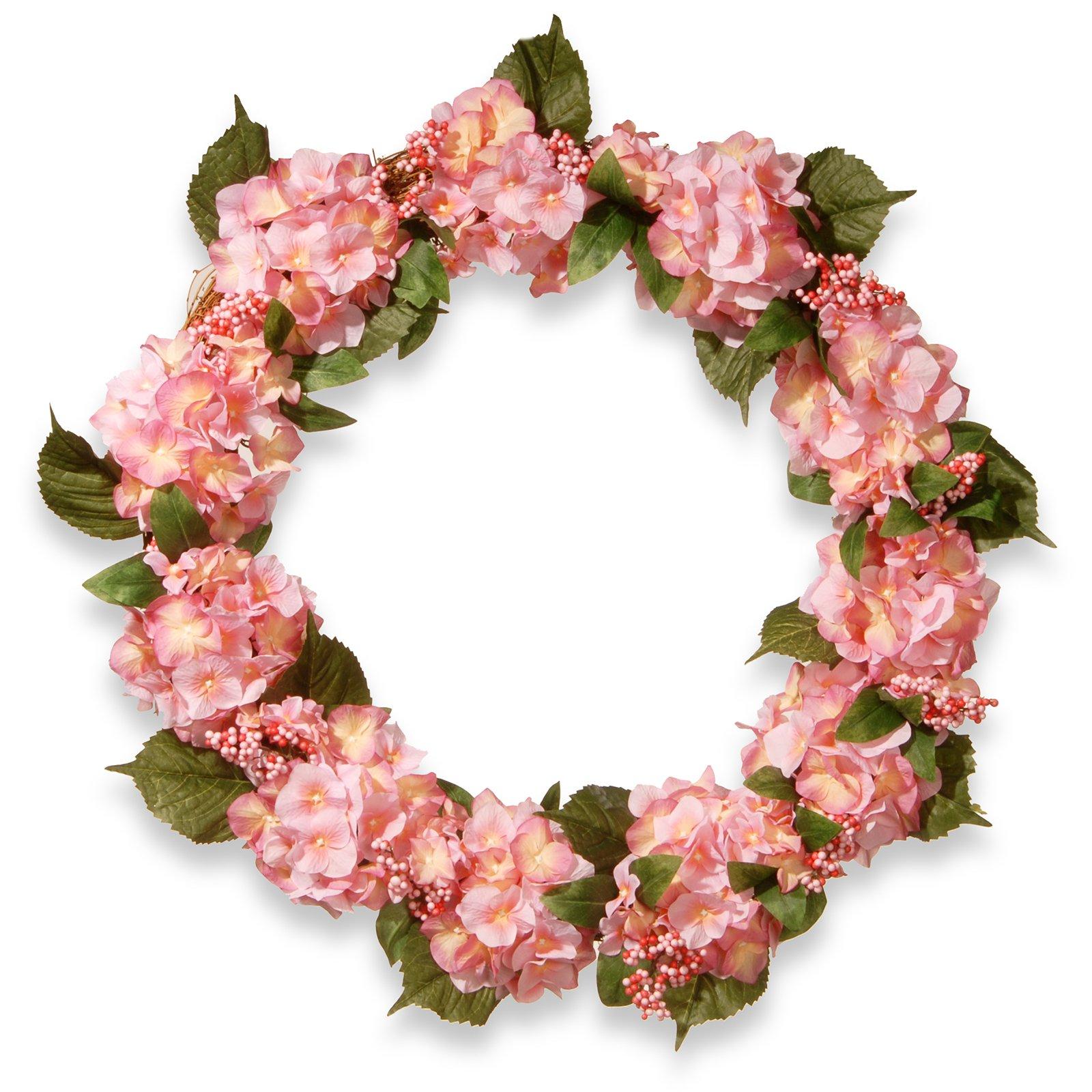"32"" Pink Hydrangea Wreath"