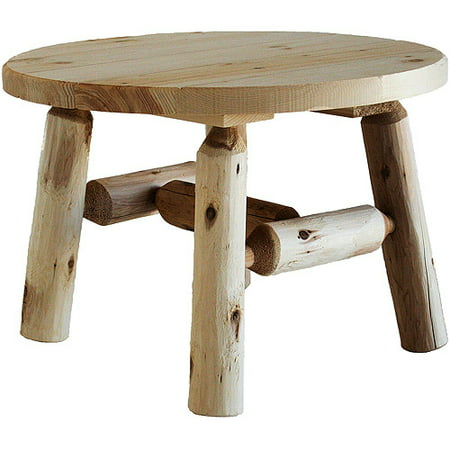 Cedar Log 27 Round Coffee Table