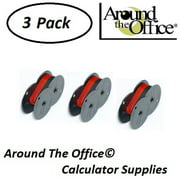 Canon Model MP-11DX Compatible CAlculator RS-6BR Twin Spool Black & Red Ribbon by Around The Office
