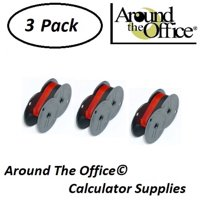 Canon Model MP-25DV Compatible CAlculator RS-6BR Twin Spool Black & Red Ribbon by Around The Office