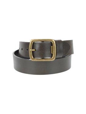 1-1/2 in. US Steer Hide Men's Leather Belt with Detachable Antique Brass Finish Bottle Opener Buckle- Brown