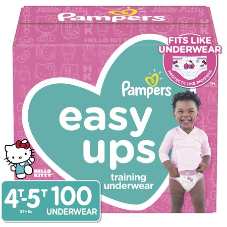 Pampers Easy Ups Training Underwear Girls Size 6 4T-5T 100