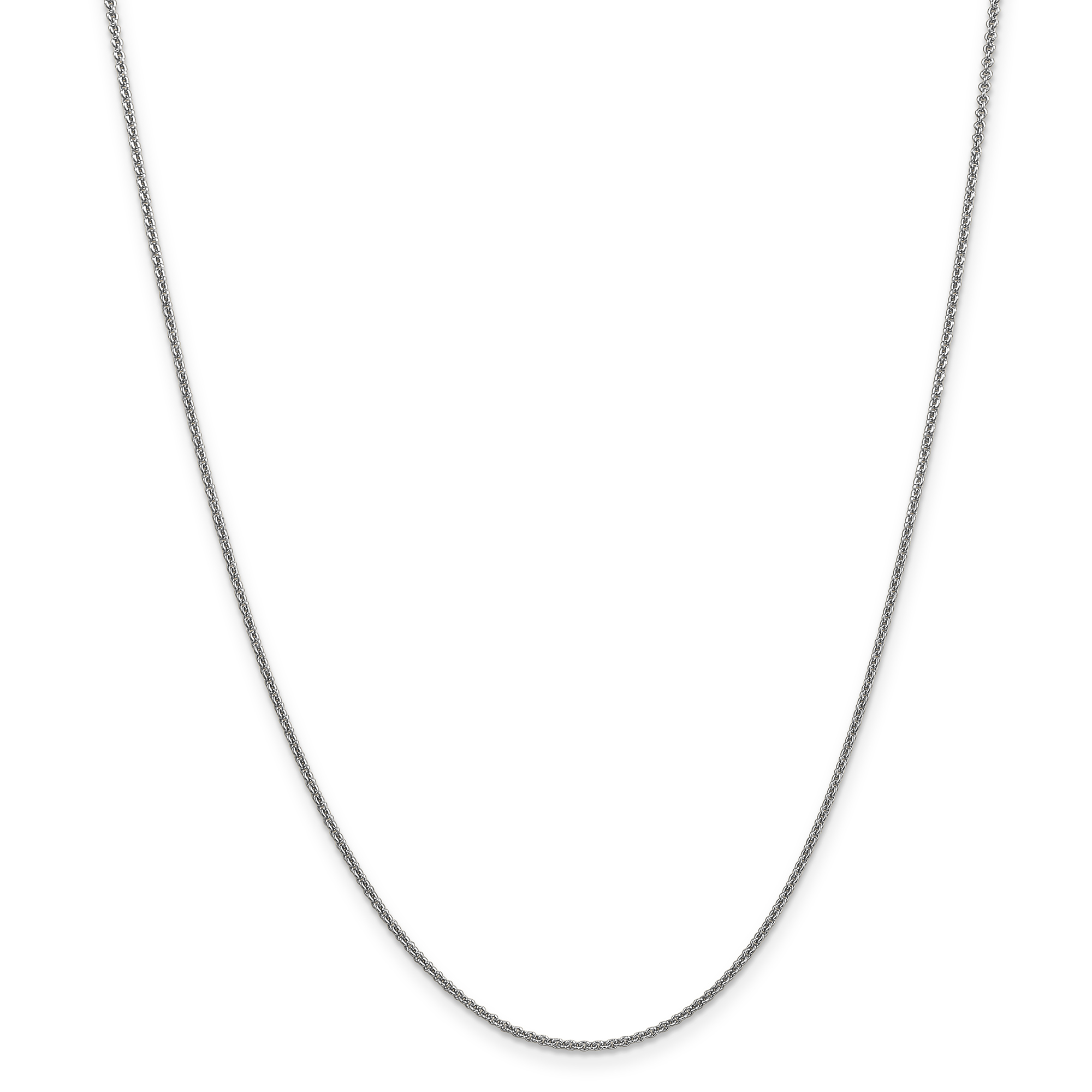 14k White Gold 1.5mm Solid Link Cable Chain Necklace 14 Inch Pendant Charm Fine Jewelry Gifts For Women For Her - image 5 of 5