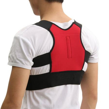 Men Women Adjustable Posture Corrector Lumbar Support Shoulder Back Brace Belt - image 2 de 12
