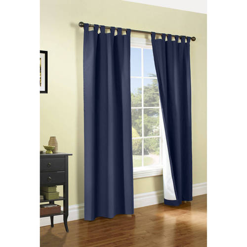 "Weathermate Insulated Tab Top Curtain Panel (Set of 2), Burgundy, 54"" H x 40"" W"