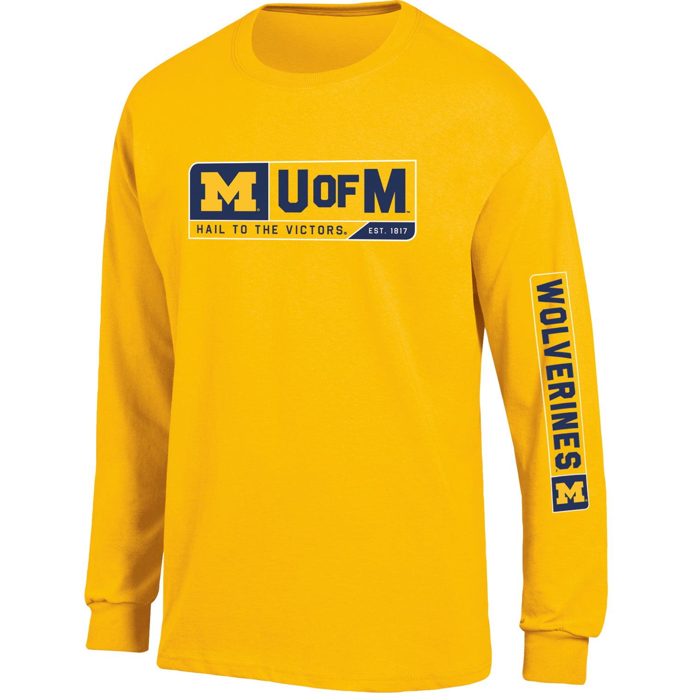 Men's Russell Maize Michigan Wolverines Team Long Sleeve T-Shirt