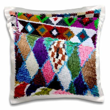 3dRose Santa Fe, New Mexico, USA. Moroccan rug at the Folk Art Market. - Pillow Case, 16 by 16-inch