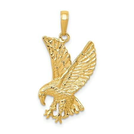 14K Yellow Gold Eagle Charm - image 2 de 2