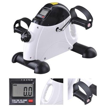 Portable Mini Pedal Exerciser with Handle Fitness Exercise Bike Cycle Arm Leg LCD Display Gym Home - Mini Exercise Pedal