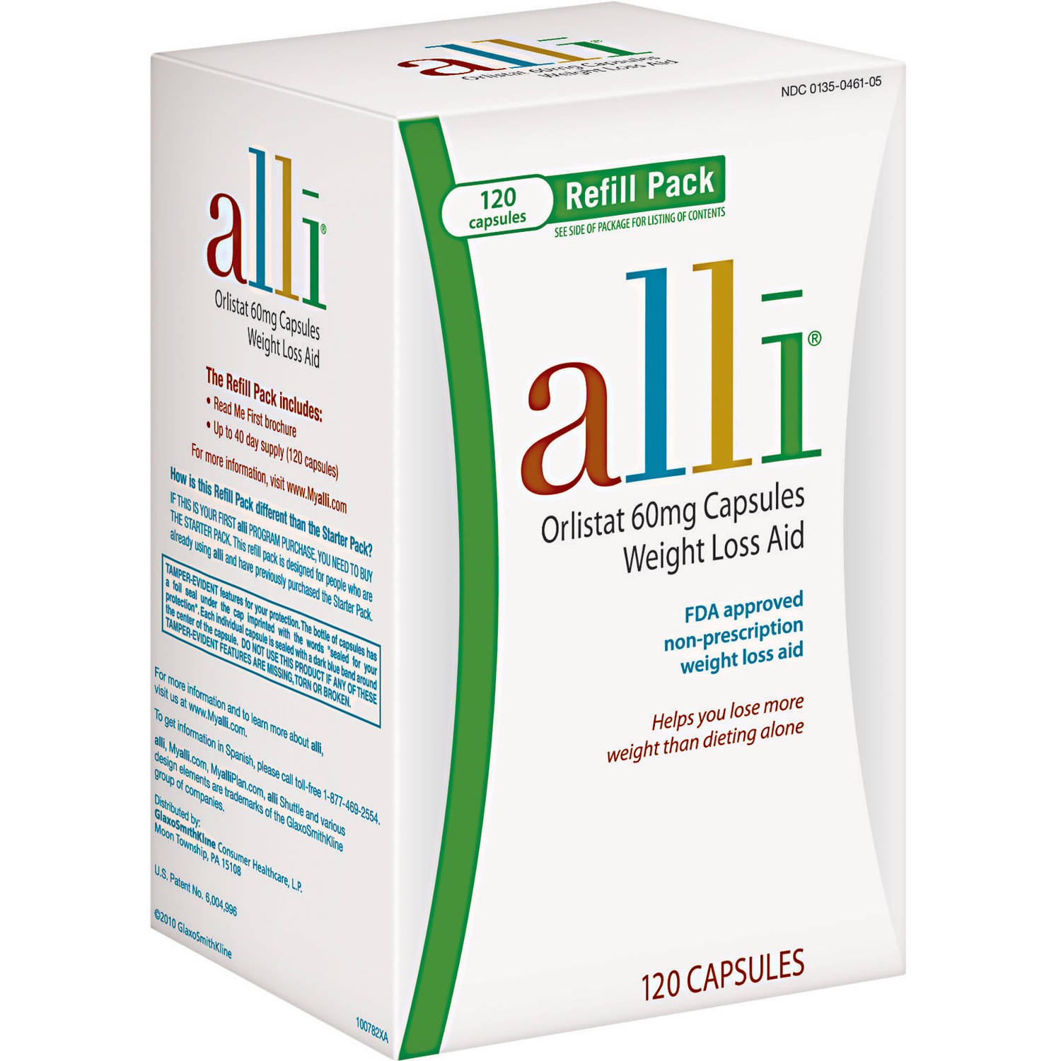 alli FDA-Approved Weight Loss Aid Orlistat Capsules, 60mg, 120 Count