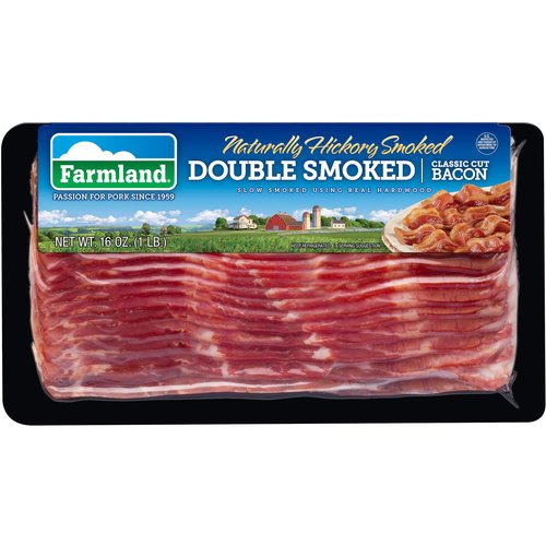 Farmland Naturally Hickory Smoked Double Smoked Classic Cut Bacon, 16 oz