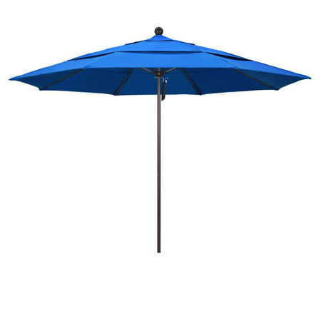 Diameter Fiberglass Market Umbrella (California Umbrella Venture Series Patio Market Umbrella in Olefin with Aluminum Pole Fiberglass)