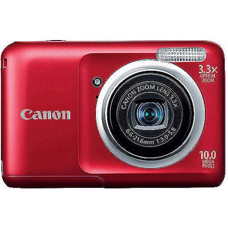 """Canon PowerShot A800 Red 10.0MP Digital Camera with 3.3x Optical Zoom, 2.5"""" LCD, Smart AUTO"""