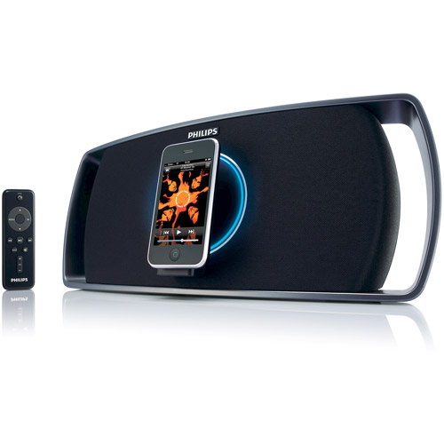 Philips iPod/iPhoneSpeaker Dock with Motorized Swivel and Remote Control, SBD8100