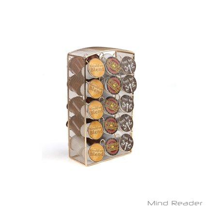 - Mind Reader 30 Capacity Metal Mesh K-Cup Coffee Pod Carousel Storage Organizer, Gold