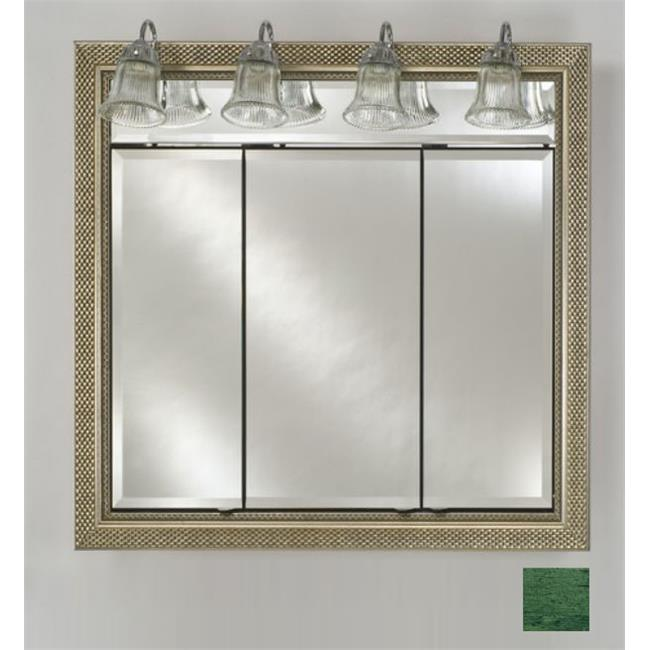 Afina Corporation TD-LT4434RRUSGN 44 in.x 34 in.Recessed Triple Door Cabinet with Traditional Lights - Rustic Wood Green - image 1 de 1