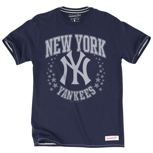 New York Yankees Mitchell & Ness Hometown Champs T-Shirt - Navy Blue