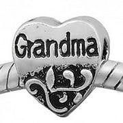Grandma Charm Bead. Compatible With Most Pandora Style Charm Bracelets.
