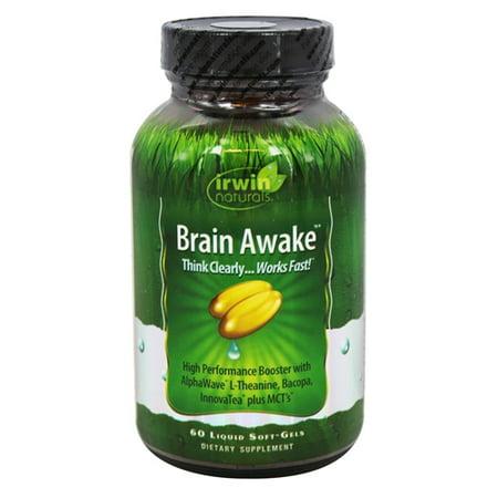 Irwin Naturals Brain Awake, 60 ct (Best Vitamins For Baby Brain Development)