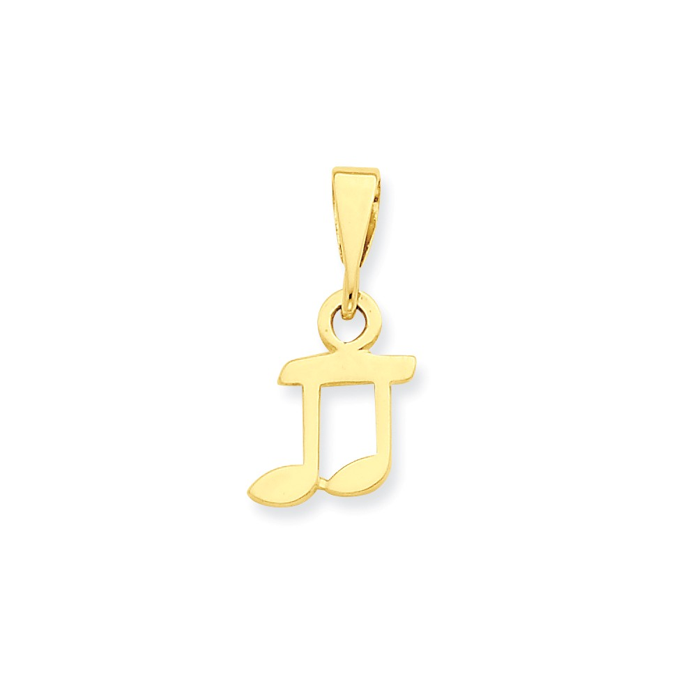 14k Yellow Gold Musical Series Whole Note Pendant