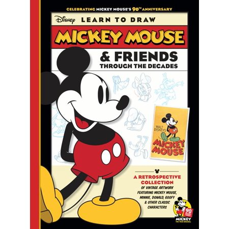 Learn to Draw Mickey Mouse & Friends Through the Decades : Celebrating Mickey Mouse's 90th Anniversary: A retrospective collection of vintage artwork featuring Mickey Mouse, Minnie, Donald, Goofy & other classic characters - Minnie And Mickey Mouse Halloween Coloring Pages