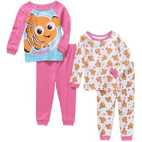 Finding Nemo Newborn Baby Girl Cotton Tight Fit Pajamas 4pc Set
