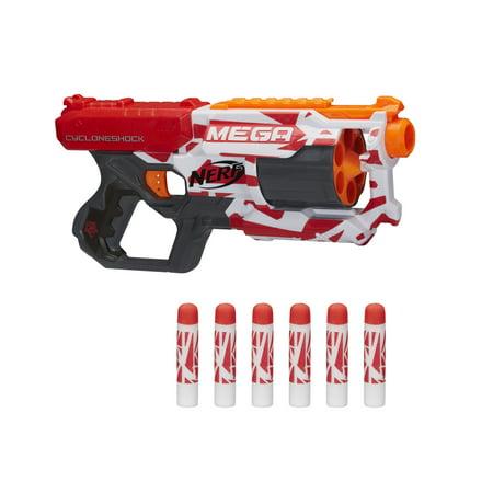 Nerf Mega CycloneShock Toy Blaster with 6 Nerf Mega Darts ()