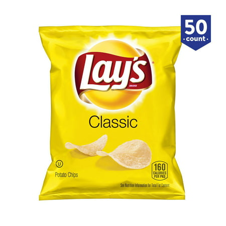 (50 pack) Lays Classic Potato Chips Gluten free (1 oz)