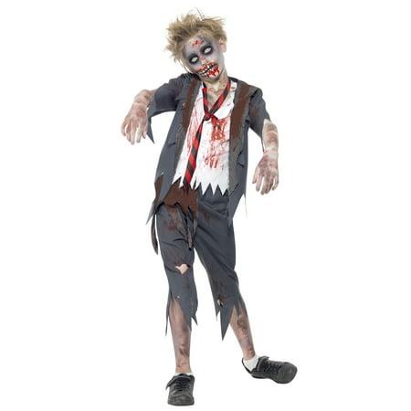 Zombie School Boy Costume](Little Boy Zombie)