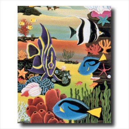 Tropical Ocean Fish Coral Reef Wall Picture Art Print